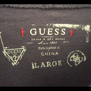 Guess Shirts - Mens Guess Lightweight Hooded Pullover